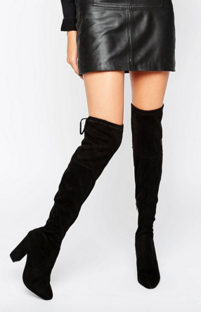 Dune, Sibyl Thigh High Suede Heeled Over The Knee Boots, £160
